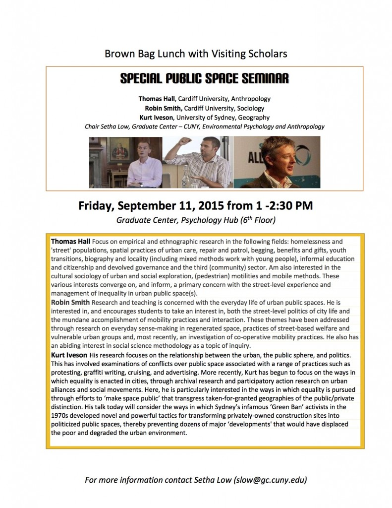 9.11.15 Brown Bag Lunch with Visiting Scholars Flyer